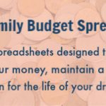 Introducing: Family Budget Spreadsheets 2019