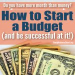 How to Start a Budget (and be successful at it!)