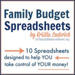 Family Budget Spreadsheets 2021
