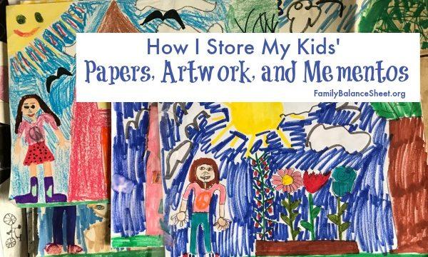 How I Organize My Kids' Paperwork, Artwork, and Mementos