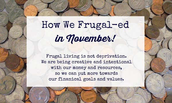 How We Frugal-ed in November 2020