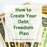 How to Create Your Own Debt Freedom Plan