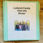 Family Vital Information Binder